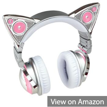 Brookstone Ariana Grande Wireless Bluetooth Cat Ear Headphones (Limited Edition)