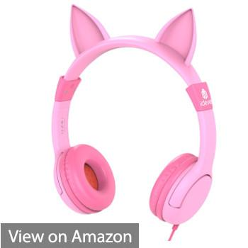 iClever BoostCare Wired Kids Cat Ear Headphones (Pink)
