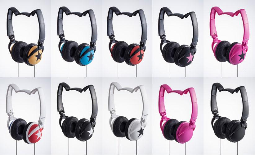Mix-Style Nekomimi Wired Cat Ear Headphones (All Colors)
