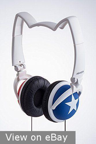Mix-Style Nekomimi Wired Cat Ear Headphones (White/Blue/Red)