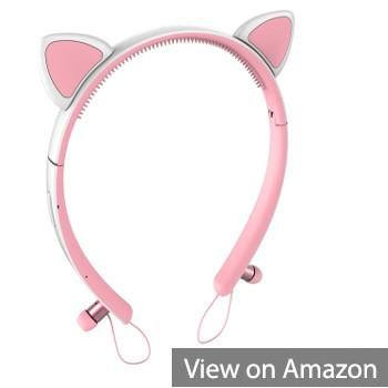 Padmate MongDa Bluetooth Wireless Cat Ear Hairband Headphones